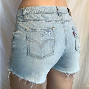 Vintage Levi's 517 cutoff into shorts.